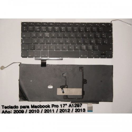 "Teclado con Topcase Español MacBook Pro 15"" 2.8GHz Core i7 (ME665LL/A, A1398, MacBookPro10,1) - Early 2013"