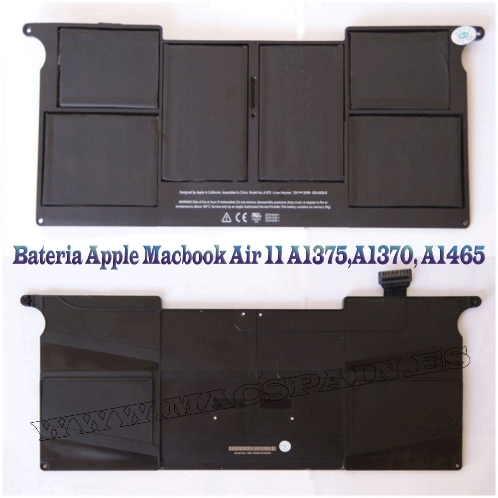 "A1375 Batería para ordenador portátil Apple MacBook Air 5.1 MacBook Air 11"" A1370 35WH"