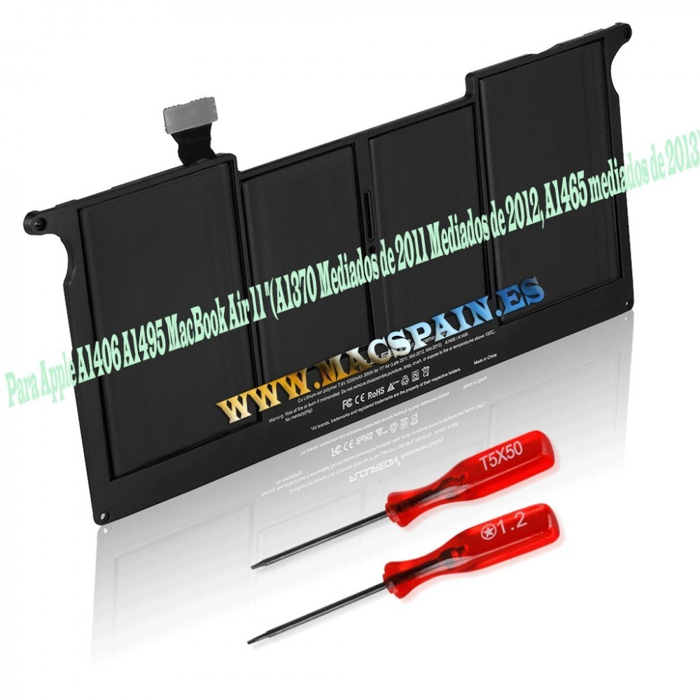 "Bateria para MacBook Air ""Core i5"" 1.3 11"" (Mid-2013) - A1495"