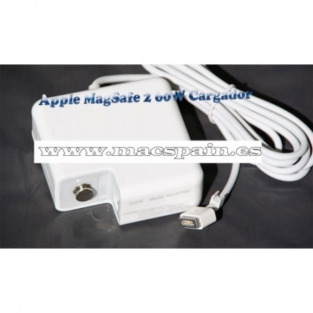 Cargador 60W MagSafe 2 Power A1184 A1330 MA538Z/B MA538 Adapter Macbook 13""