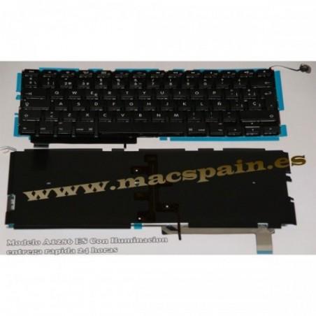 """MACBOOK PRO 15"""" A1286 2009/2012 TECLADO ESPAÑOL"""