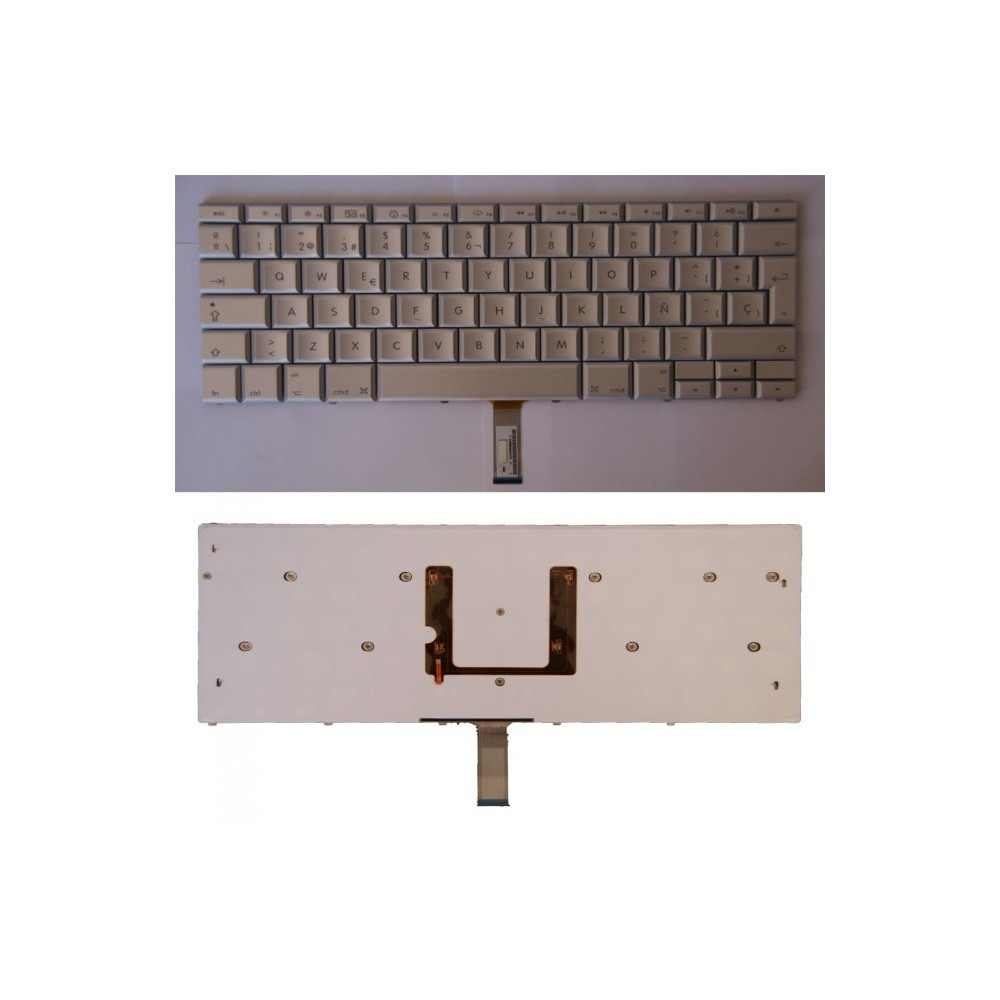 "TECLADO ESPAÑOL PLATA para APPLE MACBOOK PRO 15"" A1260 A1261"