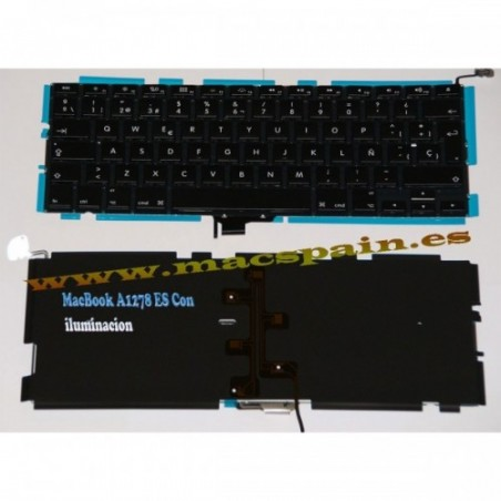 "TECLADO MacBook PRO 13"" Unibody A1278 MB467 MC374 (Español)"