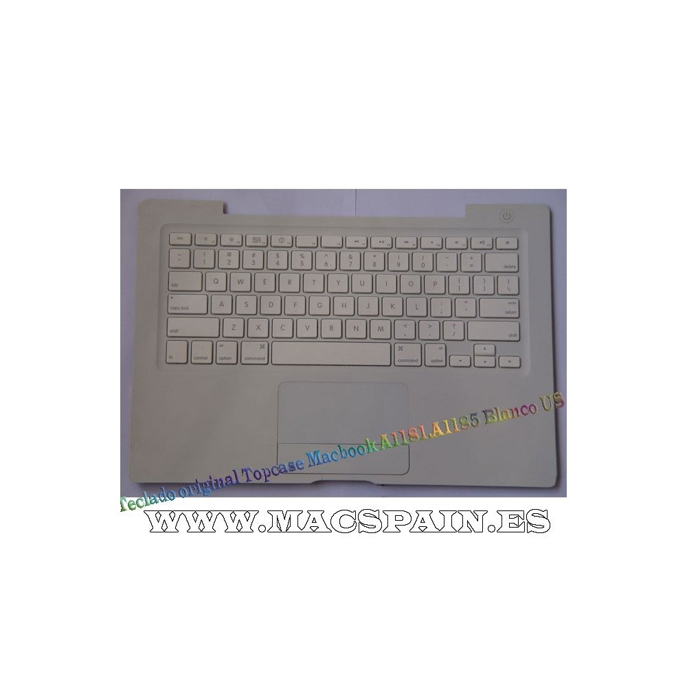 Teclado original Topcase Macbook A1185 Blanco US ENVIO URGENTE
