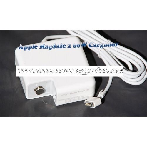 Cargador Apple MagSafe 2 60W cargador MacBook Pro pantalla retina 13'