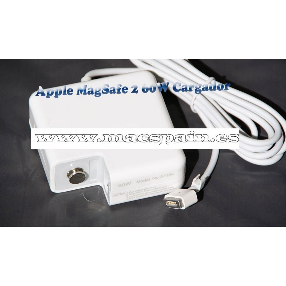 Cargador Apple MagSafe 2 60W cargador MacBook Pro pantalla retina 13'