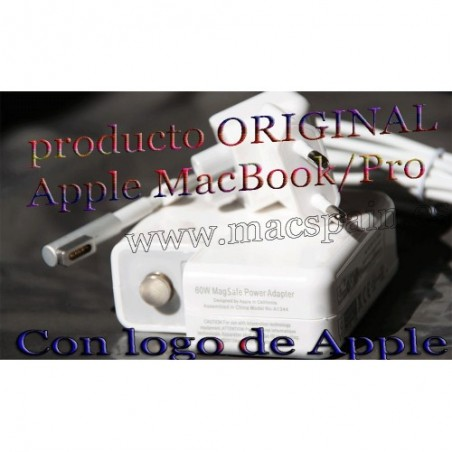 Cargador ORIGINAL MacBook Pro 60W Magsafe 1 A1181