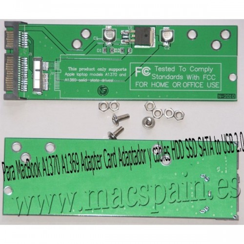 Adapter Card Adaptador y cables HDD SSD SATA to USB 2.0 Para MacBook A1370 A1369