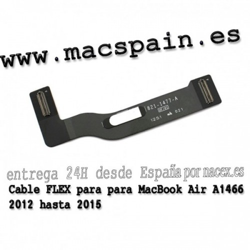 Cable FLEX de la placa de audio de Power Jack 821-1722-A para MacBook A1466 2013 hasta 2016