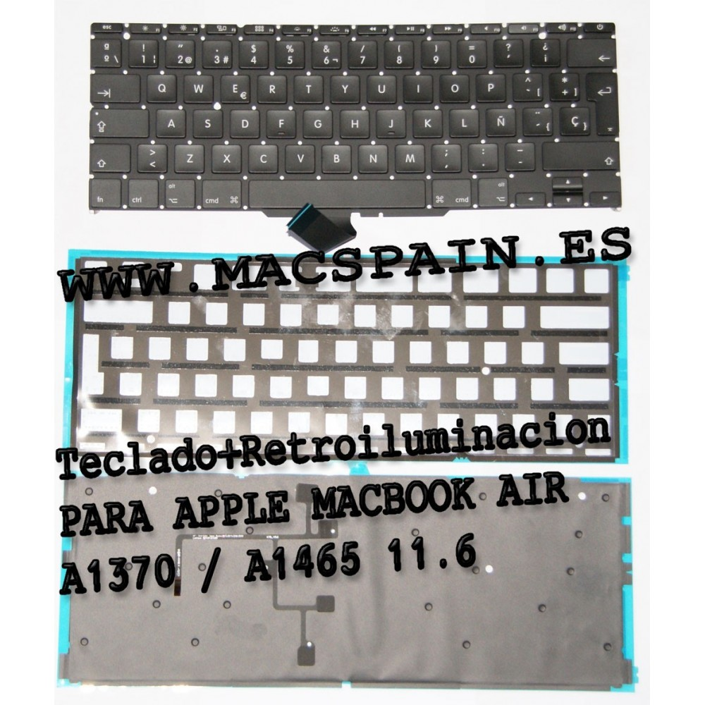 Teclado con Backlight para Apple macBook Air A1370 / A1465 11.6