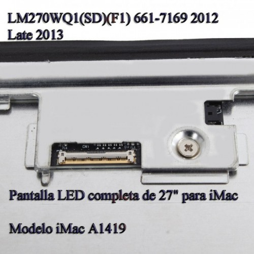 "PANTALLA LED PARA APPLE IMAC A1419 27"" LM270WQ1(SD)(F1) 661-7169 2012 2013"